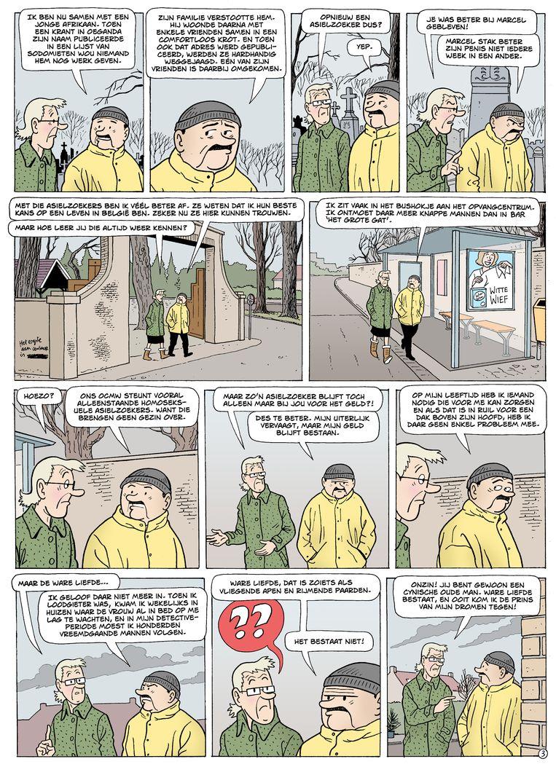 Pagina uit 'Het dertigersdipje' van 'Suster en Wiebke'.  Beeld RV