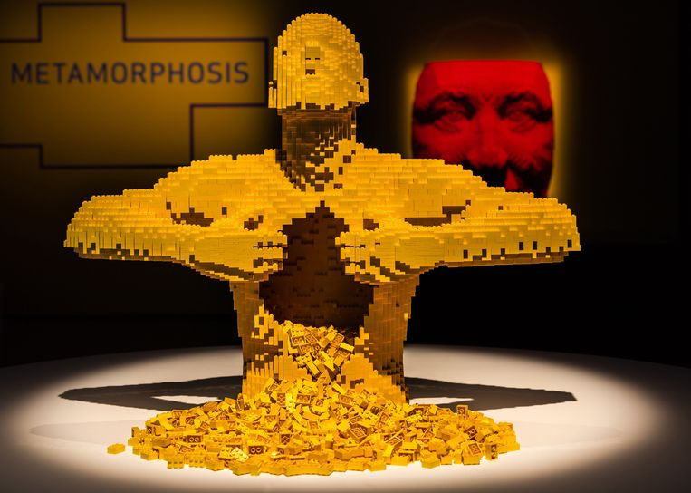 De lego-expositie The Art of the Brick is vanaf donderdag te zien in de Kalverstraat. Beeld