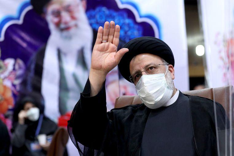 De hardliner Ebrahim Raisi is de gedoodverfde winnaar voor de Iraanse presidentsverkiezingen van 18 juni.  Beeld AP