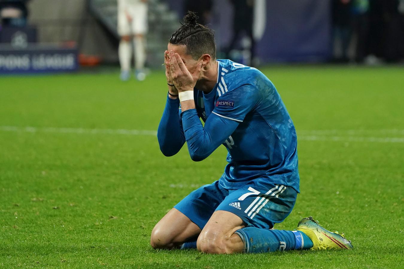 Cristiano Ronaldo tijdens een duel van Juventus.
