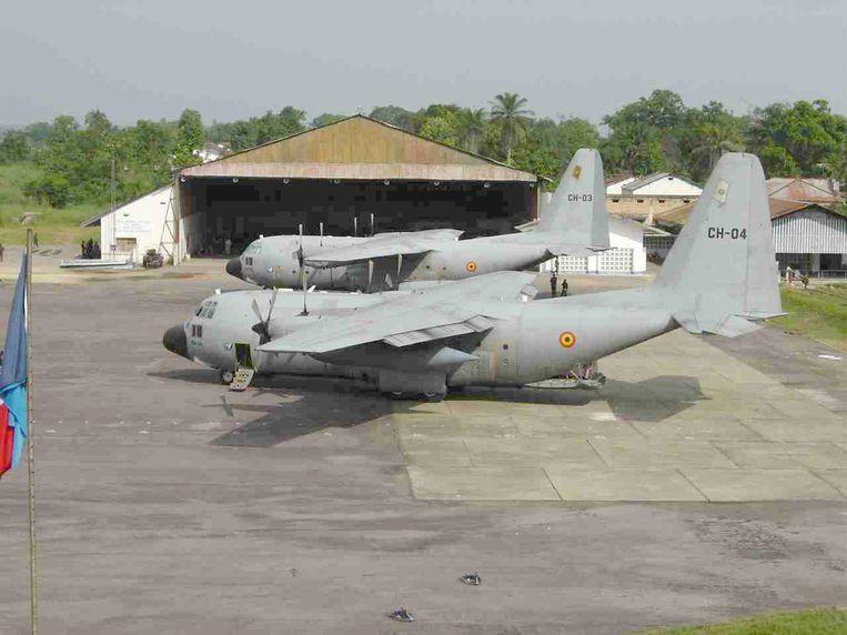 Een C-130 van het Belgische leger.