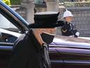Elizabeth op de begrafenis van haar echtgenoot.