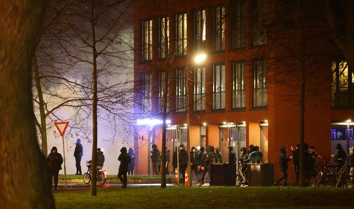 Rellende jongeren op 25 januari in Den Bosch.