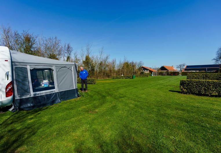 Camping in Zoutelande. Beeld EPA