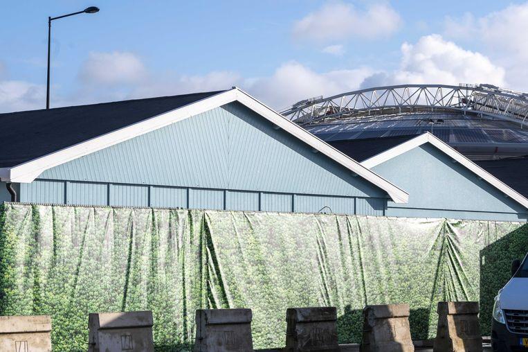 Het huis voor de Big Brother-editie van 2021 in Amsterdam, vlak naast het stadion van Ajax. Beeld ANP Kippa