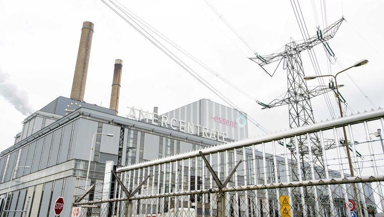 De Amercentrale van Essent in Geertruidenberg, die op kolen draait. Beeld ANP