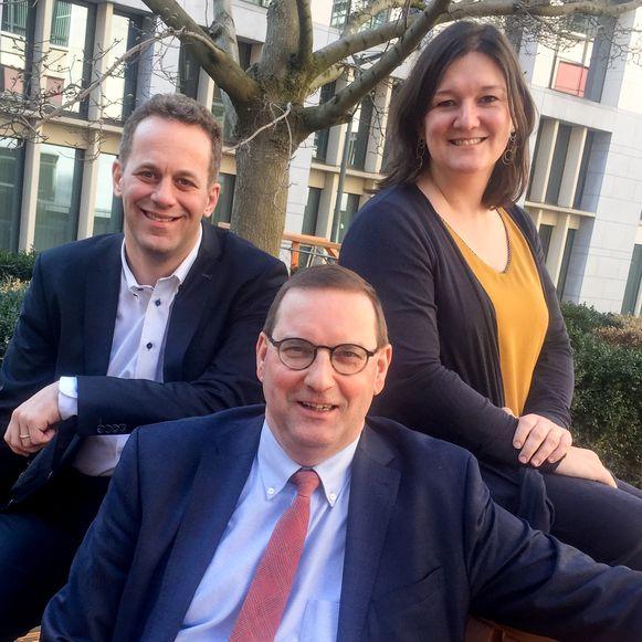 Robrecht Bothuyne, Stefaan Vercamer en Cindy Franssen.