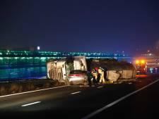 Zwaar ongeluk met tankwagen met bijtende stof op A67