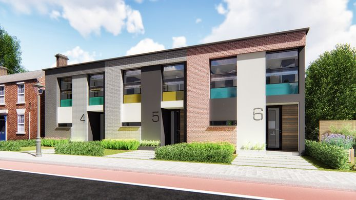 Rijtjeswoningen als voorbeeld van Thorb, een start-up in volledig in de fabriek gebouwde woningen.