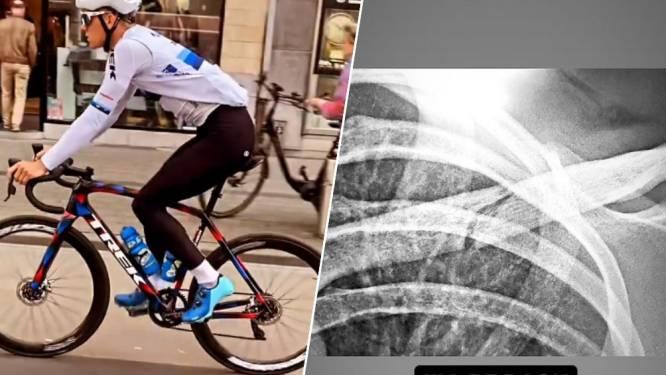 Thibau Nys zit weer op de fiets: amper vier dagen na operatie aan sleutelbeen werkt hij al training af