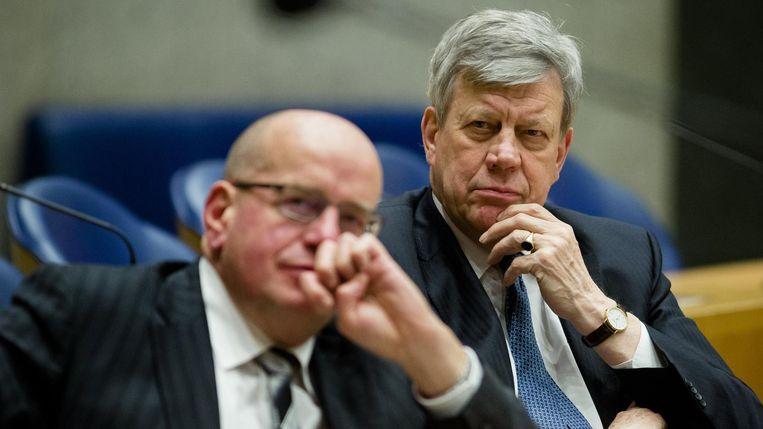 Fred Teeven en Ivo Opstelten. Beeld anp