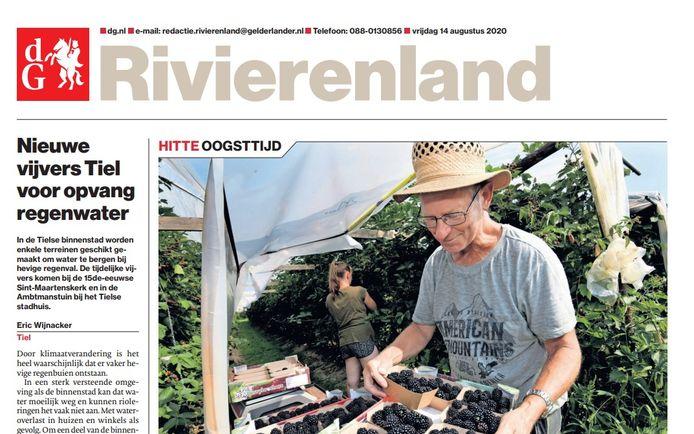 De editie Rivierenland van vrijdag 14 augustus.