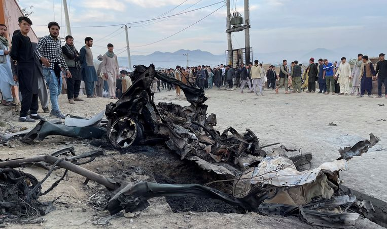 Bij de aanslag op zaterdag gingen meerdere explosieven af, waaronder een autobom.  Beeld REUTERS