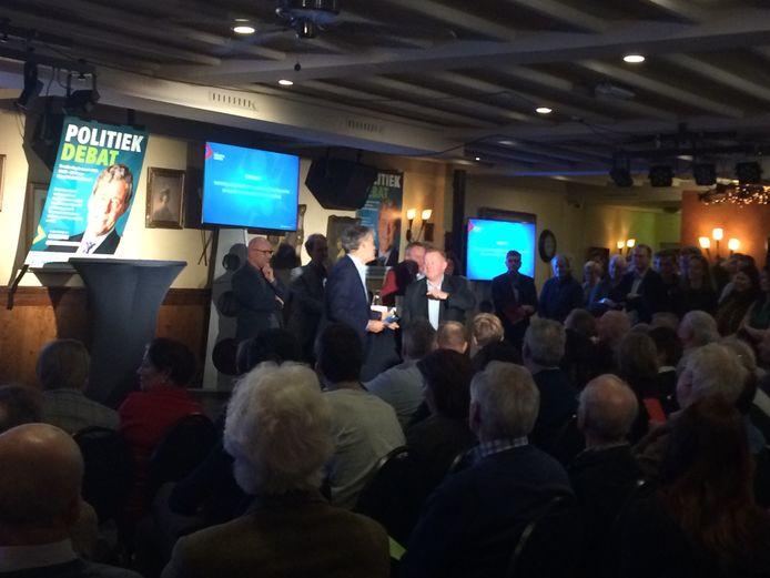 Charles Groenhuijsen presenteerde het verkiezingsdebat van ondernemersvereniging SPIN in Boxtel.