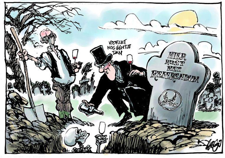Jos Collignon - Hier rust het referendum Beeld Collignon