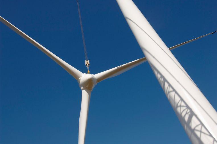 Met meer zonnepanelen op platte daken kan de productie van een deel van de windmolens worden opgevangen. Beeld Getty Images