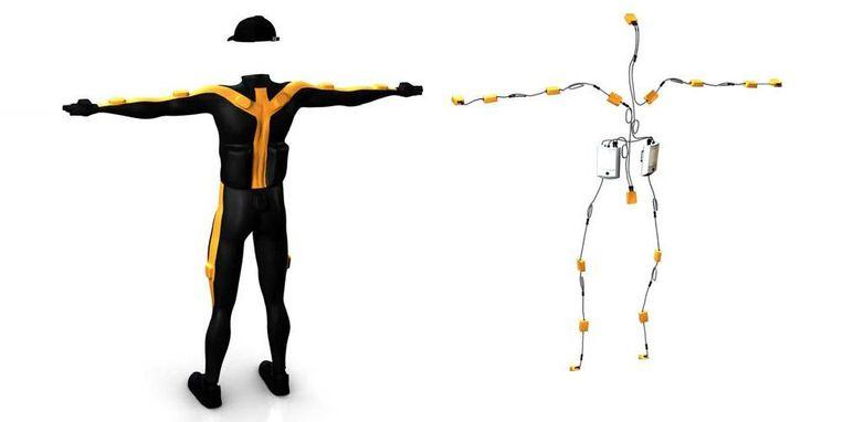 Een full body motion capture suit. Beeld -