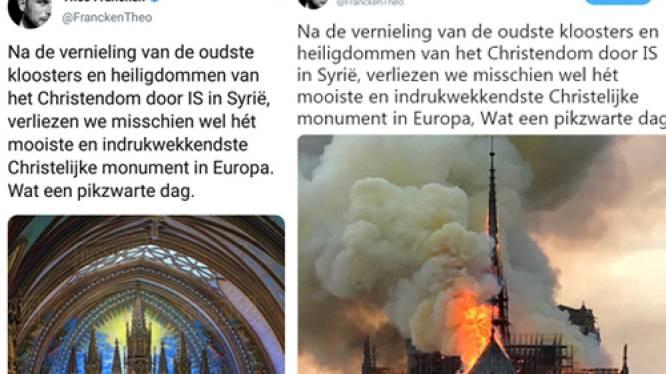 Francken oogst kritiek met verkeerde foto en verwijzing naar IS