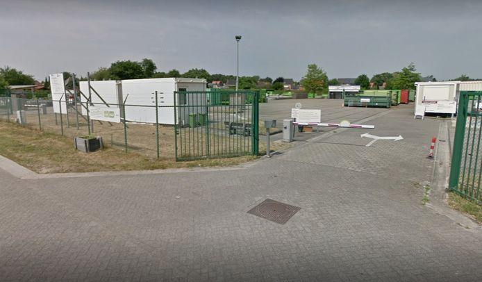 Het containerpark in Millegem