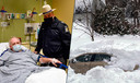 Kevin Kresen (58) en zijn redder, politieagent Jason Cawley.