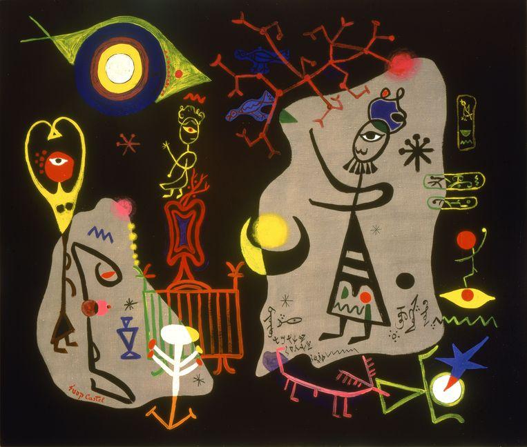 Moshe Castel 'Cabbalistic Magic', 1953, Olieverf op doek Beeld Jewish Museum, New York. Schenking James N. Rosenberg, JM 4-61