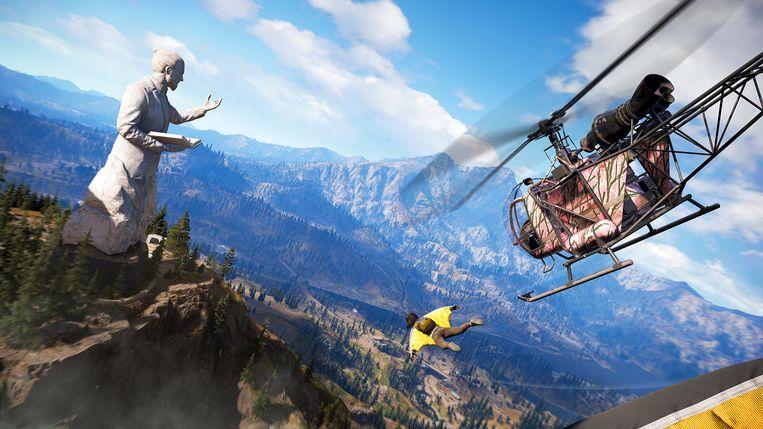 De game heeft de panache van een Amerikaanse actiefilm. Beeld Ubisoft