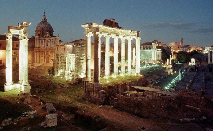 Het Forum Romanum in Rome.