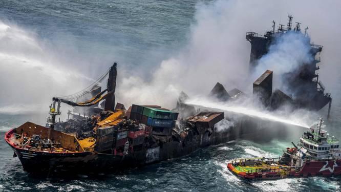 Brand op containerschip voor Sri Lankaanse kust na 13 dagen geblust, stranden bezaaid met microplastics
