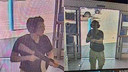 De 21-jarige schutter werd vastgelegd op beveiligingsbeelden.