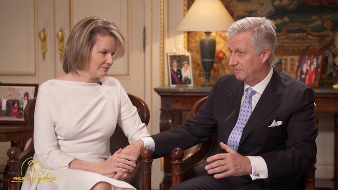 Het koningspaar vertelde in een interview over hun 20 jaar huwelijk.