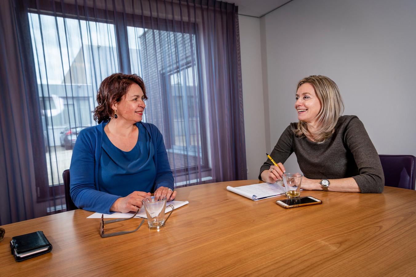 Yvonne Althuizen en Karin Wagemakers