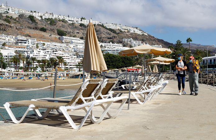 Toeristen op Gran Canaria eerder dit jaar.