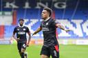 Donyell Malen of PSV Eindhoven viert de 0-1 tijdens de Nederlandse Eredivisie wedstrijd tussen Willem II en PSV in het Koning Willem II stadion op 09 mei 2021 in Tilburg, Nederland. ANP OLAF KRAAK