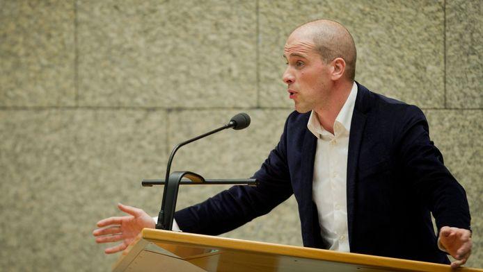 PvdA-fractieleider Diederik Samsom in de Tweede Kamer.