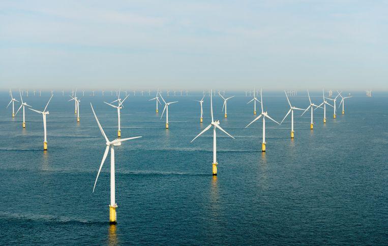 Windmolens op de Noordzee Beeld Getty Images/Cultura RF