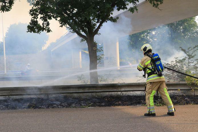 De brandweer wist de brand gauw te blussen.