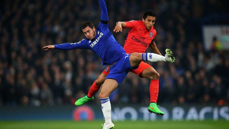 De Champions League wordt vandaag hervat met de wedstrijd Paris Saint-Germain tegen Chelsea. Beeld getty