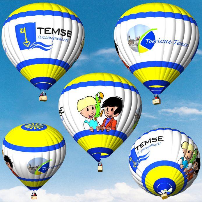 Dit wordt de nieuwe luchtballon van Temse. Vanaf de lente van 2020 vliegt hij uit.