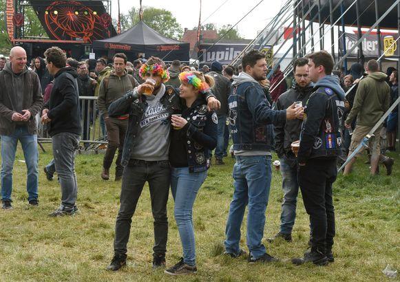 De festivalweide van Groezrock