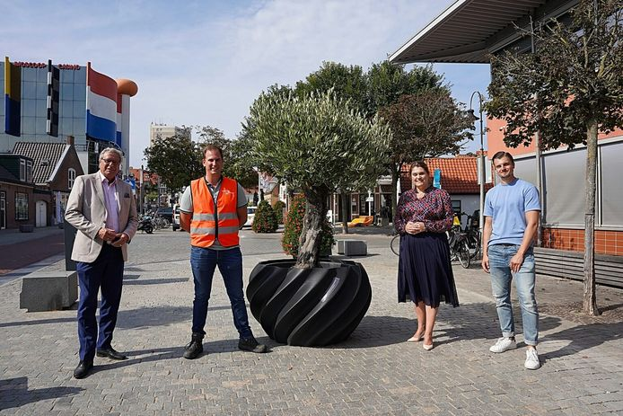 Nederlands eerst 3D-geprinte plantenbak van oude rolcontainers.