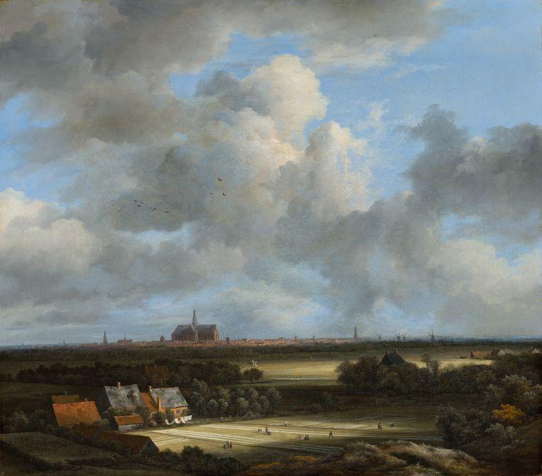 Jacob van Ruisdael, Gezicht op Haarlem met bleekvelden (ca. 1670 - 1675). Beeld Mauritshuis