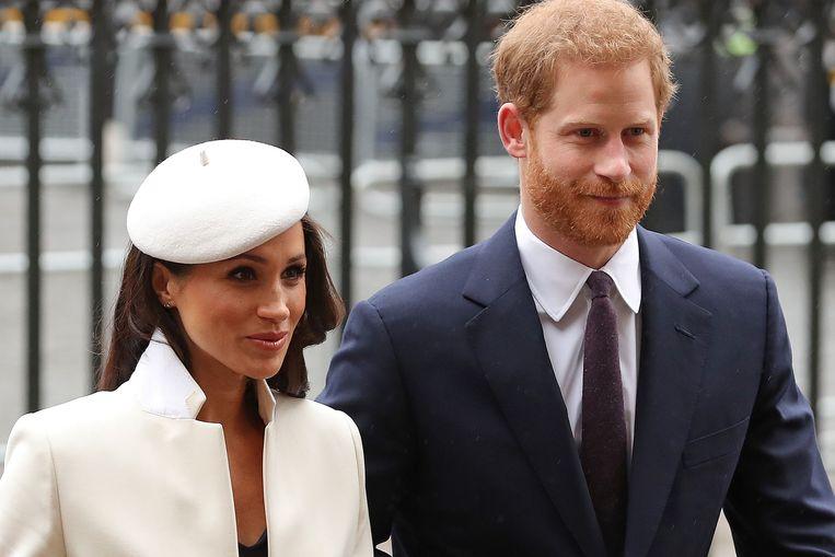 Meghan en Harry in 2018.  Beeld AFP