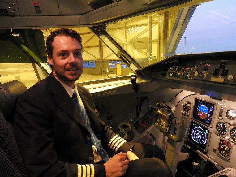 Verkerk maakte gisteren de laatste vlucht, die gisteren van Schiphol naar Norwich vertrok, mee. 'Dat laat ik me niet ontnemen.' Beeld Herman Stil