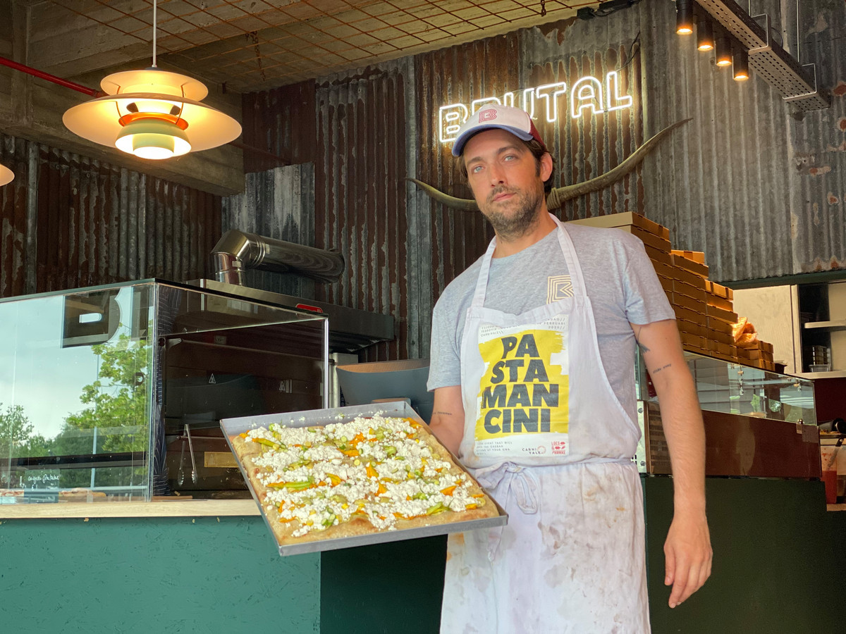 Chef Matthias Devos van pizzeria Brutal.