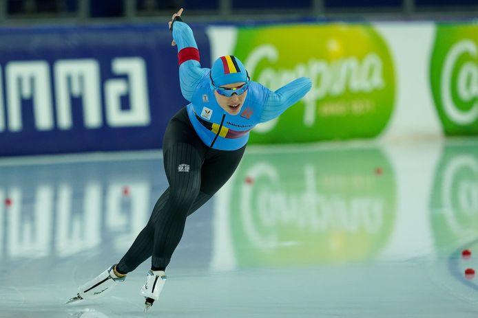 """Stien Vanhoutte: """"Ik kijk ernaar uit om eindelijk nog eens een internationale wedstrijd te kunnen schaatsen. Dat is intussen al bijna een jaar geleden."""""""