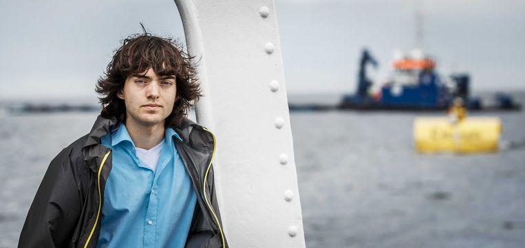 Boyan Slat, de drijvende kracht achter het project Beeld BELGAIMAGE