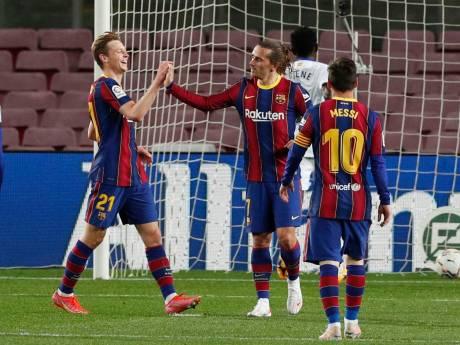Barça maakt geen fout: Koeman en De Jong zetten jacht op Atlético en Real voort