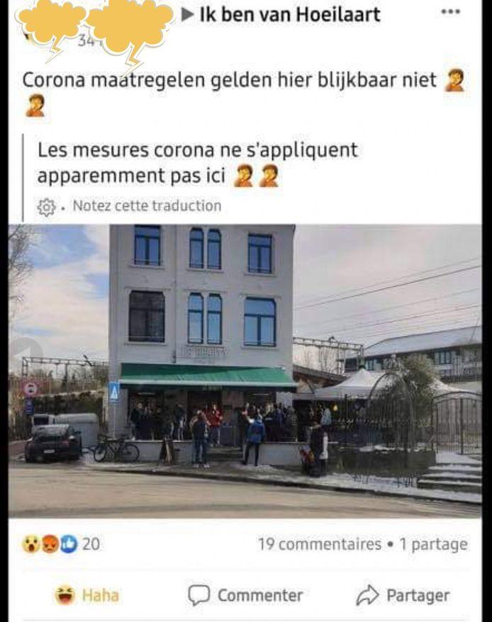 Een van de foto's die in de Facebookgroep verscheen.