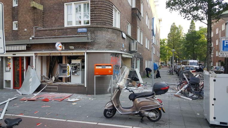 Plofkraak bij geldautomaat op Postjesweg