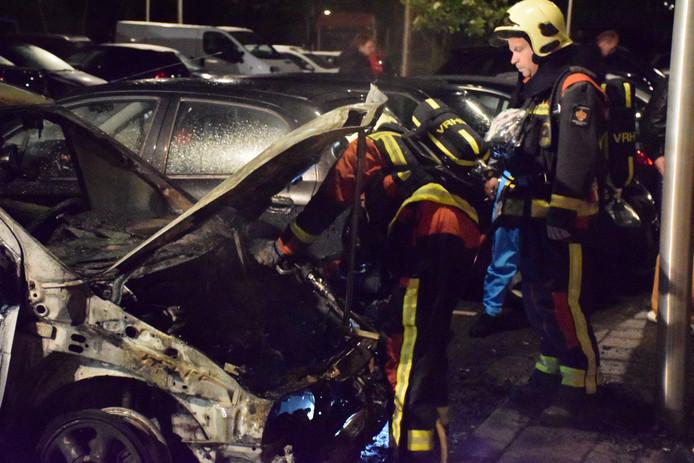 De op 12 mei uitgebrande auto van Marian Eisden